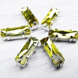 Хрустальные стразы в цапах, цвет: желтый, размер: 5х15 мм, 1 шт.