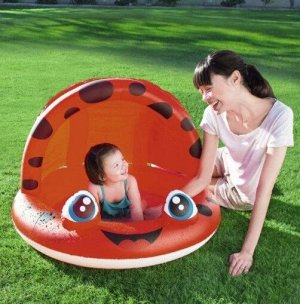Детский надувной бассейн с навесом и надувным дном