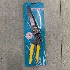 Ножницы для стрижки травы 33см, поворотная реж.поверхности, металлические комбинир. ручками ДоброСад