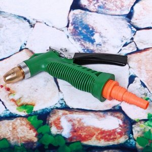 Наконечник-пистолет с регулятором напора воды, металлическая ручка ДоброСад