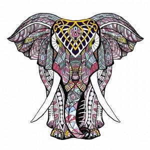 """Пазл из дерева """"Слон"""""""