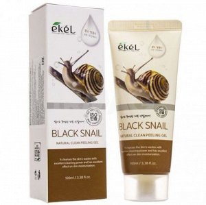 "Пилинг-гель (скатка) для лица ""Черная улитка"" Ekel Natural Clean Peeling Gel Black Snail, 100  мл, ,"