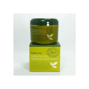 "Крем для лица ""Семена Зеленого чая"" увлажняющий с осветляющим действием FarmStay Green Tea Seed Whitening Water Cream 100 гр."