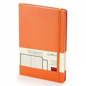 "Блокнот А5 100л клетка ""MEGAPOLIS JOURNAL"" на резинке оранжевый 3-101/05 Bruno Visconti {Китай}"