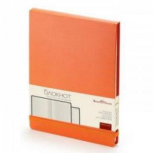 "Блокнот А5 100л клетка ""MEGAPOLIS REPORTER"" на резинке оранжевый 3-103/05 Bruno Visconti {Китай}"