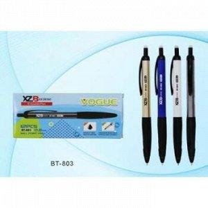 """Ручка шариковая автоматическая """"пиши-стирай"""" синяя, 0.8 мм, bt-803 цветной корпус ассорти, резиновый держатель BT-803 Basir {Китай}"""