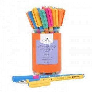 "Ручка шариковая масляная 0.5мм ""Slim Soft Grip. LOREX NEON"" синяя LXOPSSG-NN3 LOREX {Китай}"