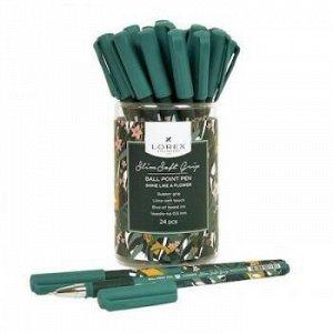"Ручка шариковая масляная 0.5мм ""Slim Soft Grip. LOREX SHINE LIKE A FLOWER"" синяя LXOPSSG-SF1 LOREX {Китай}"
