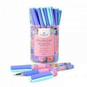"""Ручка шариковая масляная 0.7мм """"Double Soft. LOREX ELEGANCE.ART"""" синяя LXOPDS-EL2 LOREX {Китай}"""