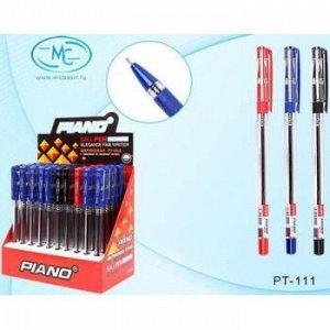 """Ручка шариковая масляная """"PIANO Finegrip"""" 0.5мм дисплей (3 цвета :35-син,10-чер,5-красн.) (отгрузка кратно 50) PT-111 Piano {Китай}"""