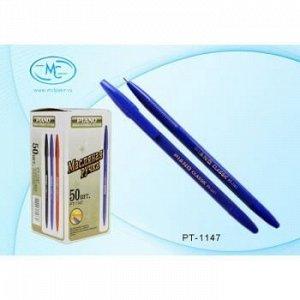 "Ручка шариковая масляная РТ-1147 ""PIANO"" синяя 1.0мм синий корпус Piano {Китай}"