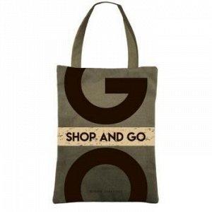 "Сумка-шоппер с карманом 35х47 см ХАКИ ""SHOP GO"" 16-002-03/02 Bruno Visconti {Китай}"