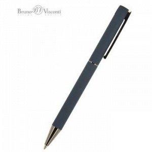 """Ручка автоматическая шариковая 1.0мм """"BERGAMO"""" синяя, синий металлический корпус 20-0245 Bruno Visconti {Китай}"""