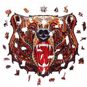 """Пазл из дерева """"Сказочный Медведь"""""""