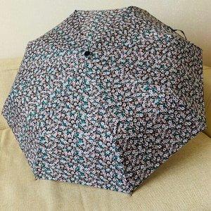 Зонт Женский зонт в 3 сложения, полный автомат. Модель прочная, надёжная.  Каркас зонта выполнен из 8 спиц, за счет чего зонт имеет хорошую натяжку  купола и выдерживает сильные порывы ветра. Зонт име