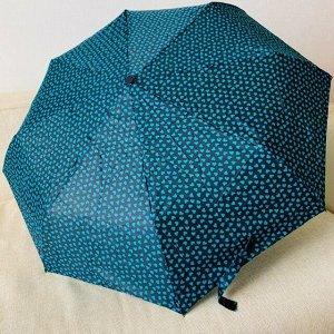 Зонт Цвет купола зависит от условий освещения. Женский зонт в 3 сложения, полный автомат. Модель прочная, надёжная.  Каркас зонта выполнен из 8 спиц, за счет чего зонт имеет хорошую натяжку  купола и