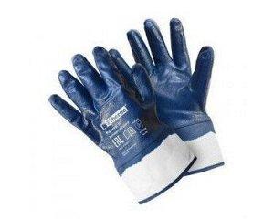 Перчатки - №37 Fiberon, х/б с полиэстером с нитрил. покр., с манжетой-крагой, 10 (ХL), (60 пар/уп)
