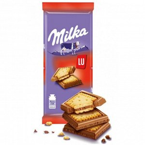 Шоколад Милка с молочным печеньем LU 87г