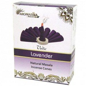 Vedic конусные благовония Lavender Лаванда масала