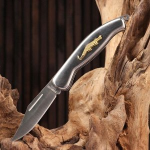Нож складной, рукоять - крокодил