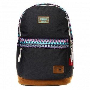 Рюкзак молодёжный, Merlin, 43 x 30 x 18 см, эргономичная спинка, серый