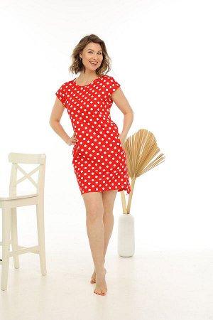 Платье Ткань: кулирка Состав: хлопок 100% Цвет: красный Год: 2021 Страна: Россия