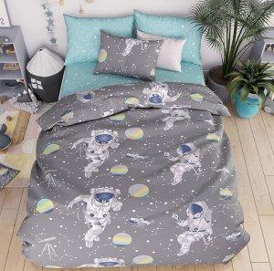 КПБ  Бязь   астронавты 1,5 спальный