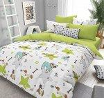 Комплект из Поплина 2 спальный Мопсы
