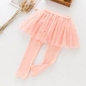 """Детские леггенсы-юбка, цвет розовый, принт """"звезды"""""""