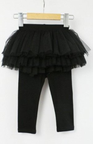 Детские леггенсы-юбка, цвет черный
