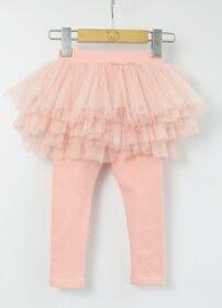 Детские леггенсы-юбка, цвет розовый