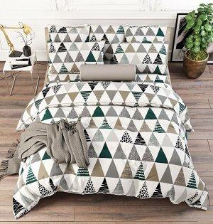 КПБ ПОПЛИН треугольники  1,5 спальный