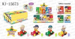 """Пупс-куколка """"Baby Ardana"""" Набор игровой Пупсик на машинке с поильником, 4 вида, в дисплее 12 шт216"""
