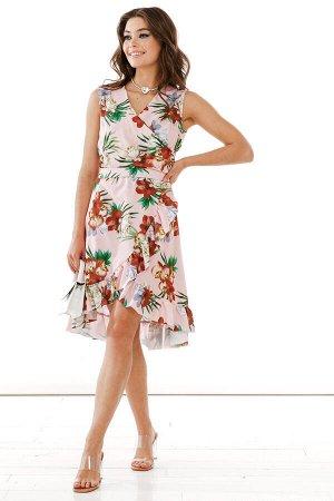 Платье Сарафан подчеркнет Вашу красоту и индивидуальность, деликатно покажет Ваши соблазнительные ножки, а мягкий цветочный принт в летних цветах замечательно подчеркнет загар! * Женственное платье из