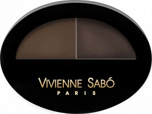 """Vivienne Sabo Тени для бровей двойные """"Brow Arcade"""", тон 02 коричневый"""