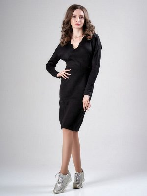 Платье Лаванда, 2445/2 Черный 42-44