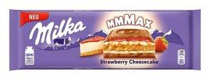 Шоколад Милка молочный с нач.чизкейк/клубн.нач/печ 300г
