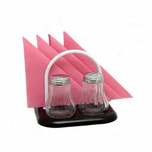 Набор для специй 2 предмета + салфетница стекло/нержавеющая сталь/пластик
