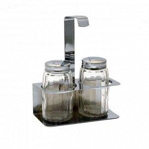 Набор для специй 2 предмета на подставке стекло/нержавеющая сталь
