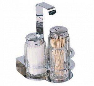 Набор для специй 3 предмета стекло/нержавеющая сталь