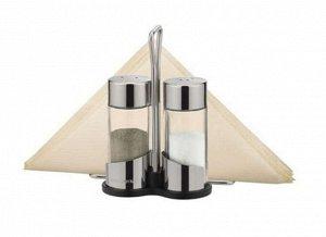 Набор для специй 2 предмета с салфетницей стекло/нержавеющая сталь
