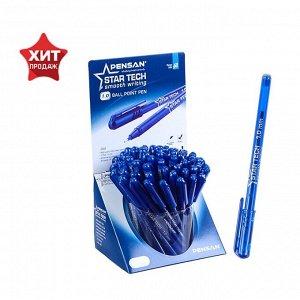 """Ручка шариковая масляная Pensan """"Star Tech"""", чернила синие, игольчатый узел 1 мм, линия письма 0,8 мм, дисплей"""