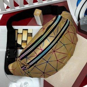 Поясная сумочка Jetem из мягкой эко-кожи золотистого цвета.