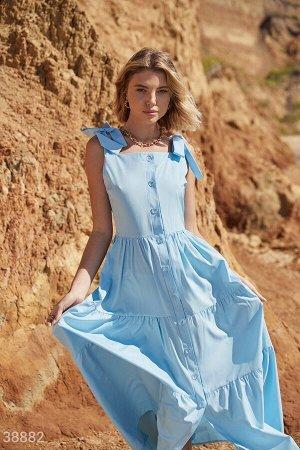 Сарафан небесно-голубого оттенка