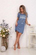 Туника женская, модель 135, трикотаж-меланж (Авеню Монтень, голубой)