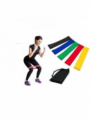 Фитнес резинки (набор 5 шт) + чехол