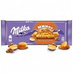 Шоколад Милка молочный с карамельной начинкой с арахисом и воздушным рисом 276г