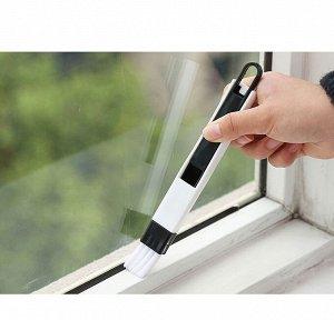 Щетка для чистки дверных и оконных пазов с совком