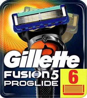 GILLETTE FUSION ProGlide Power Сменные кассеты для бритья 6шт