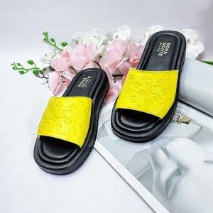 Шлепки URBAN ярко-желтый-1018